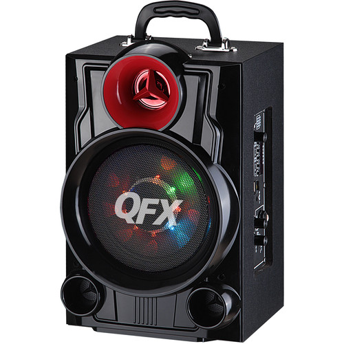"QFX PBX-9080 6.5"" Battery-Powered Portable Bluetooth Party Speaker (Black)"
