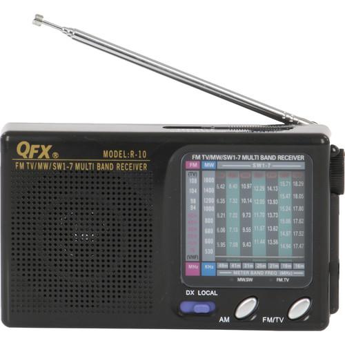 QFX R-10 Portable AM/FM/MW/SW1–7 Radio (Black)
