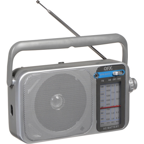 QFX R-24 Portable AM/FM/SW1/SW2 Radio (Silver)