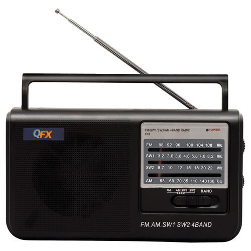 QFX R-3 Portable AM/FM/SW1/SW2 Radio (Black)