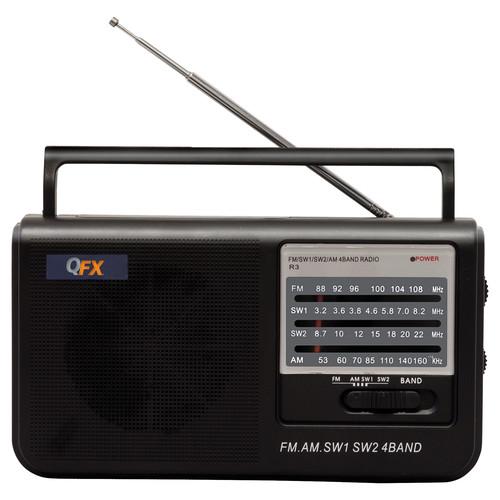 QFX R-3 Portable AM/FM/SW1/SW2 Radio (Black)