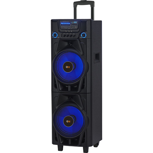 QFX Bluetooth PA Speaker with USB, SD Card Support & FM Playback (Black)