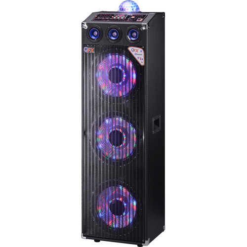 QFX Bluetooth Cabinet Speaker with Built-In Amplifier (Black)