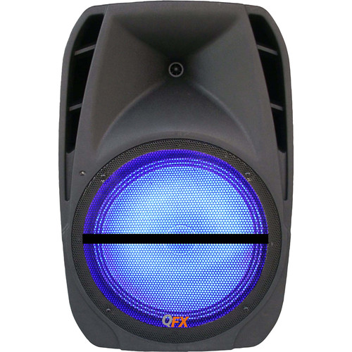 """QFX 15"""" Two-Way Bluetooth PA Speaker with USB, SD, FM, & Mic"""