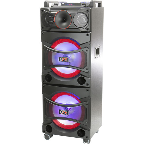 QFX 5600W Cabinet Bluetooth Speaker with Built-In Amplifier (Black)