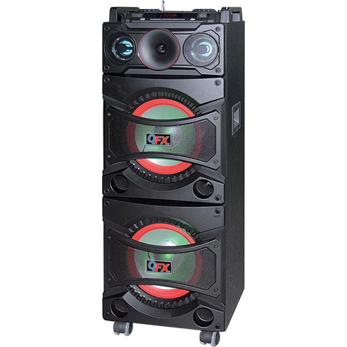 "QFX 5600W 2x10"" Bluetooth Powered PA System (Black)"