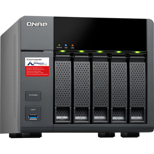 QNAP 10TB (5 x 2TB) TS-531P Five-Bay NAS Enclosure Kit with Drives
