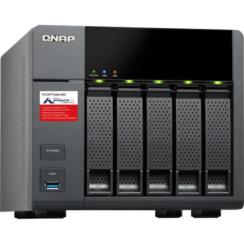 QNAP 15TB (5 x 3TB) TS-531P Five-Bay NAS Enclosure Kit with Drives