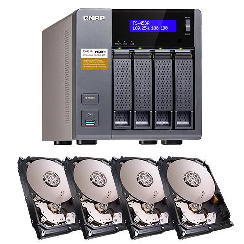 QNAP 16TB (4 x 4TB) TS-453A Four-Bay NAS Enclosure Kit with Drives
