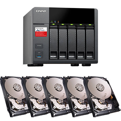 QNAP 20TB (5 x 4TB) TS-531P Five-Bay NAS Enclosure Kit with Drives