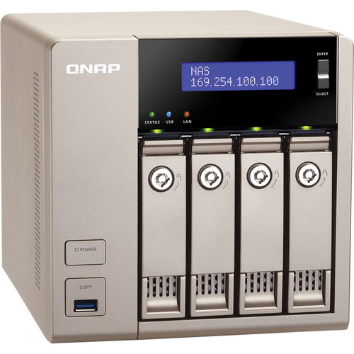 QNAP 24TB (4 x 6TB) TVS-463-4G 4-Bay Golden Cloud Turbo vNAS with Drives