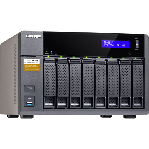 QNAP 32TB (8 x 4TB) TS-853A 8-Bay NAS Server Kit