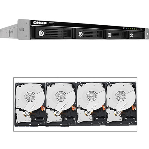 QNAP 12TB (4 x 3TB) TS-469U-SP 4-Bay NAS Server Kit with Hard Drives