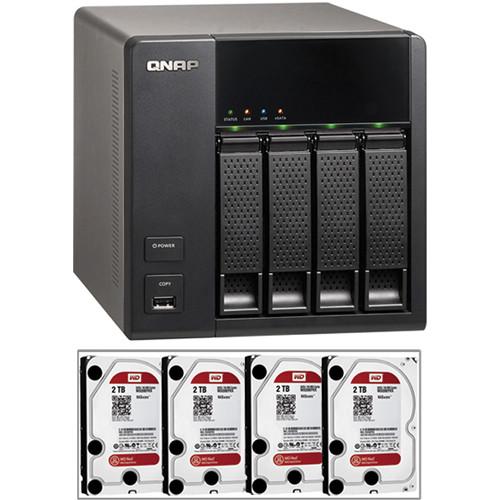 QNAP 8TB (4 x 2TB) TS-469L 4-Bay NAS Server Kit with Hard Drives