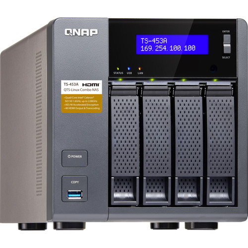 QNAP 8TB (4 x 2TB) TS-453A Four-Bay NAS Enclosure Kit with Drives