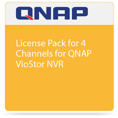 QNAP License Pack for 4 Channels for QNAP VioStor NVR