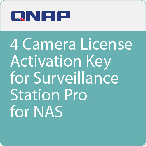 QNAP 4-Channel License for Surveillance Station Professional VMS