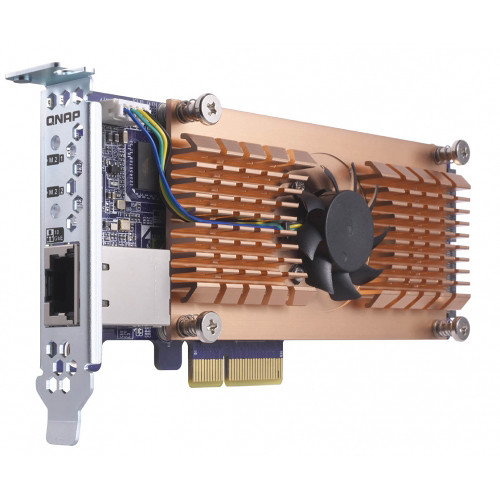 QNAP QM2 M.2 NVMe SSD & 10GbE PCIe Expansion Card