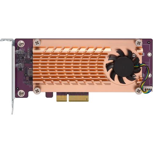 QNAP Dual M.2 22110 / 2280 PCIe Gen2 x4 NVMe SSD Expansion Card
