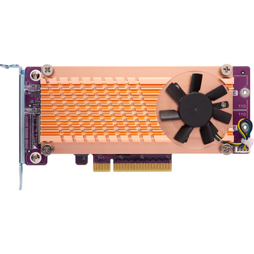 QNAP Dual M.2 22110 / 2280 PCIe Gen3 x8 NVMe SSD Expansion Card