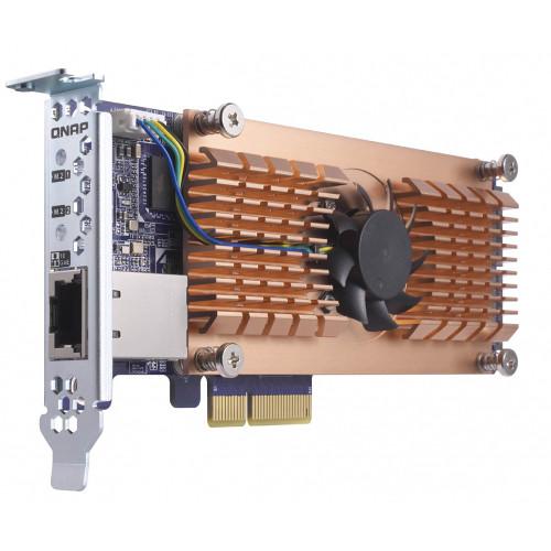 QNAP QM2 M.2 SATA SSD & 10GbE PCIe Expansion Card