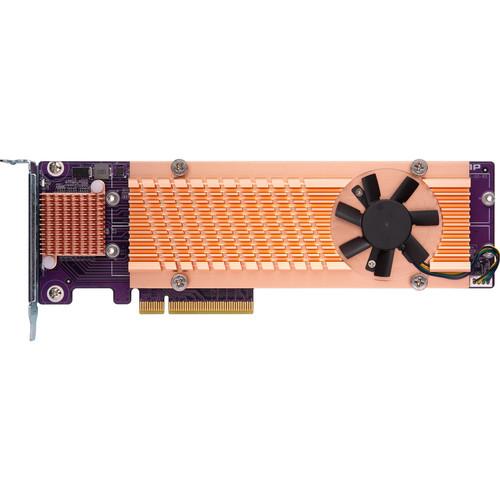 QNAP Quad M.2 2280 PCIe Gen2 x8 NVMe SSD Expansion Card