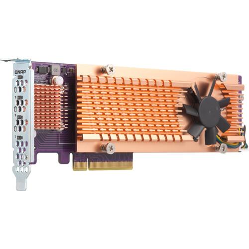 QNAP Quad M.2 2280 PCIe Gen3 x8 NVMe SSD Expansion Card