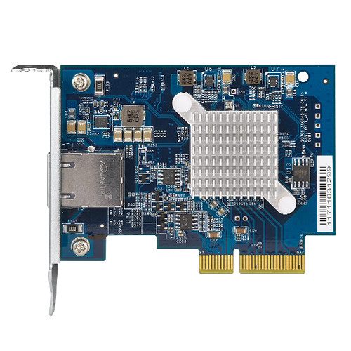 QNAP Single-Port (10GBase-T) 10GBe Network Expansion Card, Pcie Gen3 X4, Low-Profile Bracket Pre-Loaded