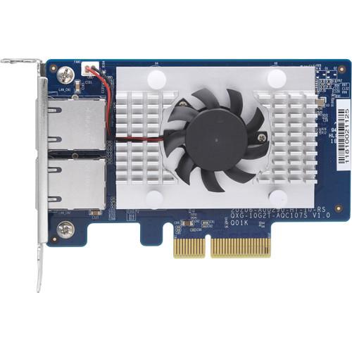 QNAP Dual-Port Baset 10Gbe Network Expansion Card Low-Profile Form Factor Pcie Gen2 X4