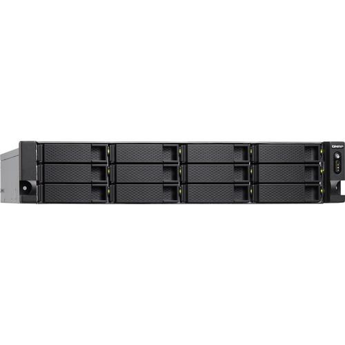 QNAP TS-1277XU 2U 12-Bay Rackmount NAS/iSCSI IP-SAN with Redundant Power Supply (8GB)