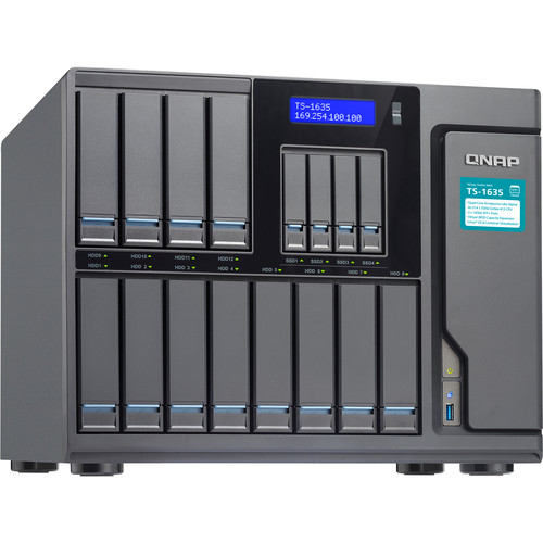 QNAP Ts-1635 High-Capacity Quad-Core 16-Bay Business Nas With 2 Integrated 10Gbe Sfp+ Ports