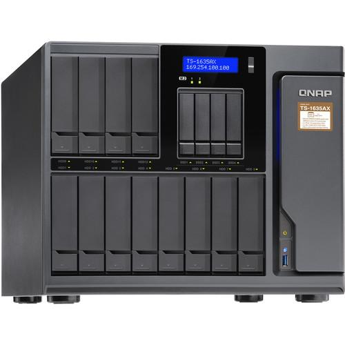 "QNAP TS-1635AX 12+4 Bay 8GB DDR4 Ram Sata 6Gb/S, 12X 3.5""/2.5"" Bays 4X 2.5"" Bays 2X M.2 2280 Sata Slots"
