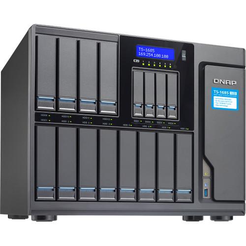 QNAP TS-1685 12 (+4) Bay/ iSCSI NAS, Intel D1521 4-Core 2.4GHz/ 16GB/ Sata 6G/ 40GBe-Ready/ 550w PS