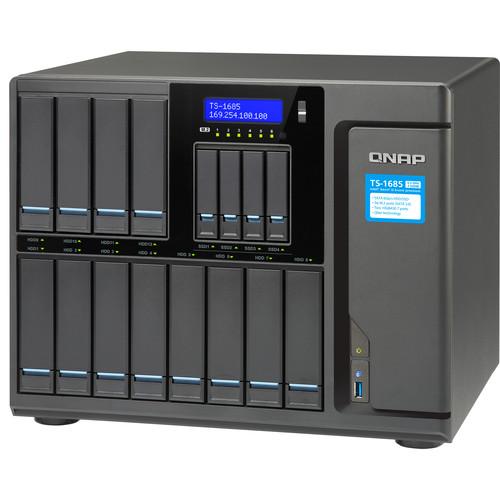 QNAP TS-1685/D1531 Intel Xeon  6-Core 2.2Ghz, 64Gb Ecc Ram 16-Bay NAS Enclosure