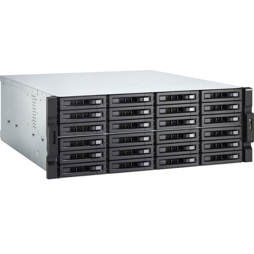 QNAP 4U 24-Bay AMD Ryzen Rackmount NAS 5 2600 8-core 3.2GHz (Turbo Core 4.1 GHz), 16GB RAM