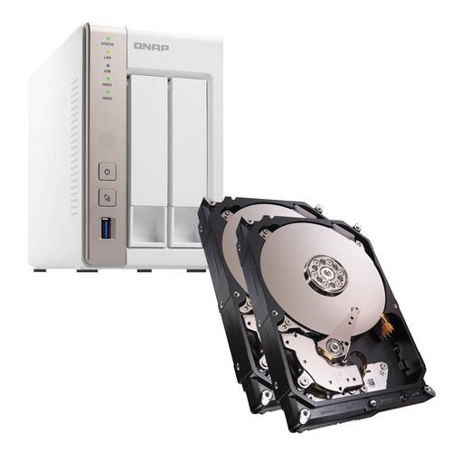 QNAP TS-251 8TB (2 x 4TB) 2-Bay NAS Server Kit with Seagate NAS Drives