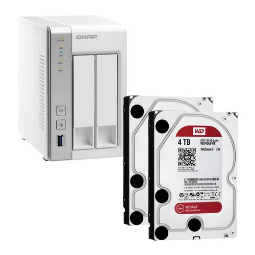 QNAP TS-251 8TB (2 x 4TB) 2-Bay NAS Server Kit with WD Red Drives