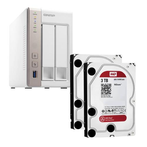 QNAP TS-251 6TB (2 x 3TB) 2-Bay NAS Server Kit with WD Red Drives