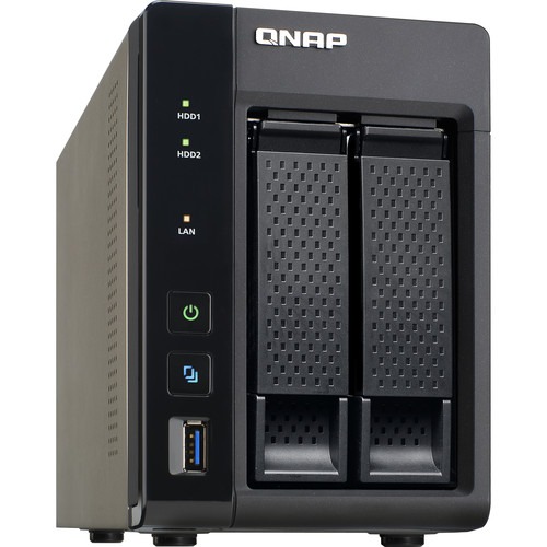 QNAP TS-253A 8TB (2 x 4TB) Two-Bay NAS Server Kit with Seagate NAS Drives