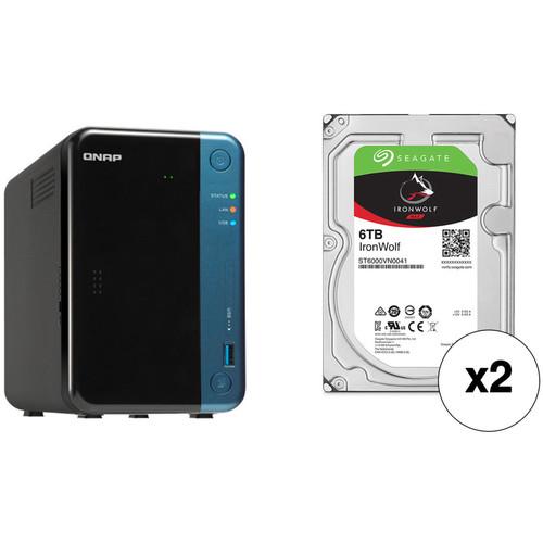 QNAP TS-253Be 12TB 2-Bay NAS Enclosure Kit with Seagate NAS Drives (2 x 6TB)