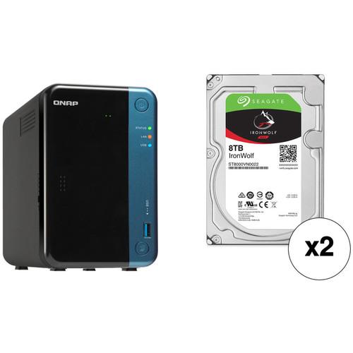 QNAP TS-253Be 16TB 2-Bay NAS Enclosure Kit with Seagate NAS Drives (2 x 8TB)