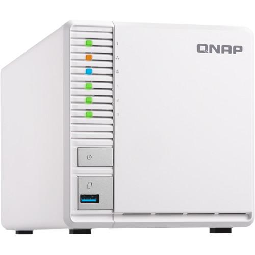 "QNAP TS-328 3-Bay Personal Cloud NAS/ Quad-Core 1.4Ghz/ 2GB DDR4 Ram/ 2x Gigabit Lan/ 2.5""/3.5"" Sata HDD"