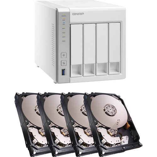 QNAP TS-431 12TB (4 x 3TB) 4-Bay NAS Server Kit with Seagate NAS Drives