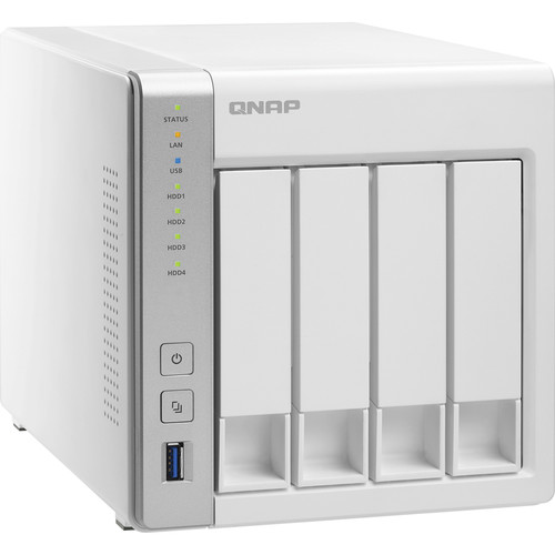 QNAP TS-431 12TB (4x3TB) 4-Bay NAS Server Kit with WD Red Drives