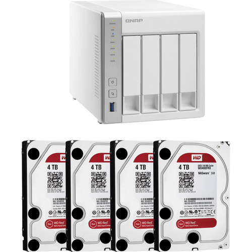 QNAP TS-431 16TB (4x4TB) 4-Bay NAS Server Kit with WD Red Drives