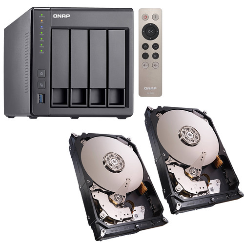 QNAP TS-451+ 12TB (4 x 3TB) Four-Bay NAS Server Kit with Seagate NAS Drives