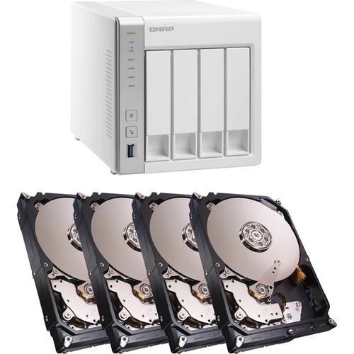 QNAP TS-431 16TB (4 x 4TB) 4-Bay NAS Server Kit with Seagate NAS Drives
