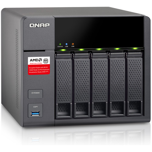 QNAP TS-563 10TB (5 x 2TB) Five-Bay NAS Server Kit with Seagate NAS Drives