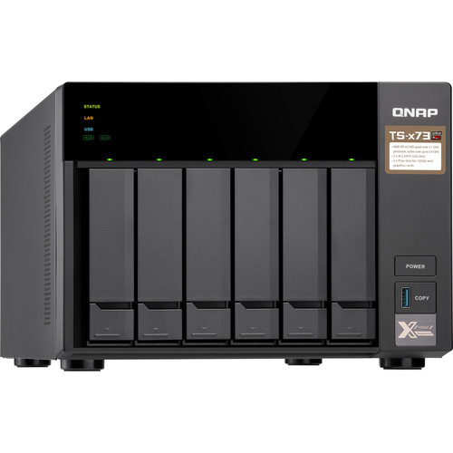 QNAP TS-673 6-Bay Nas/ iSCSI/ IP-SAN/ Quad-Core 2.1Ghz/ Quad-Core CPU/ 8GB/10G-Ready