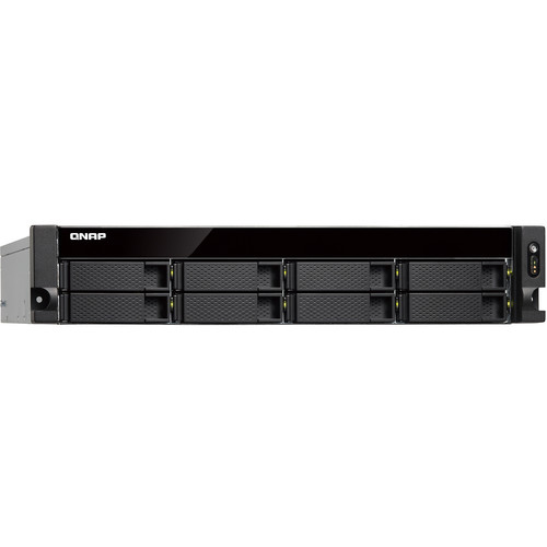 QNAP 2U 8-Bay Nas Quad Core 1.7Ghz, 4GB DDR3 Ram Single Power Supply (Not Upgradeable)